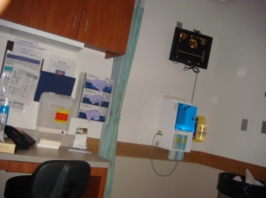 Ultrasound room at Maternal Fetal Medicine (High Risk OB)